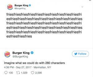 F6 Agency_Coffee break_Twitter 280 characters_Burger King tweet